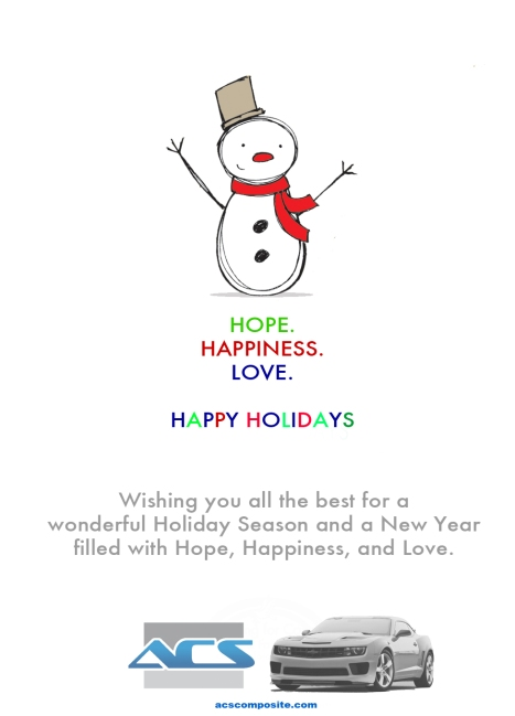 ACS Holiday Greetings !